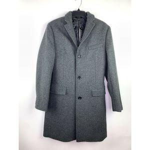 J Crew Everyday topcoat   PrimaLoft Grey Wool Coat